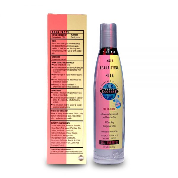 Platinum Extra Strength Skin Beautifying Milk SPF 15 (8 oz.)